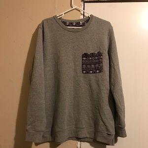 Grey crew neck sweater from pacsun